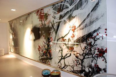 En verre et contre tout r alisations verrerie for Decoration murale lumineuse