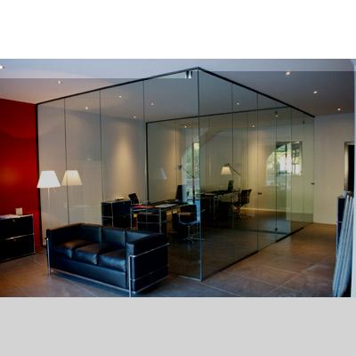 En verre et contre tout r alisations verrerie porte et cloison en verre - Porte coulissante transparente ...